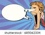 hyper expressive reaction... | Shutterstock .eps vector #685062334