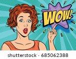 wow pop art woman. retro vector ... | Shutterstock .eps vector #685062388