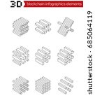 isometric graphic elements for...   Shutterstock .eps vector #685064119