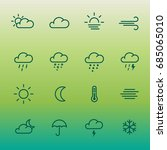 lines weather forcast icon set... | Shutterstock .eps vector #685065010