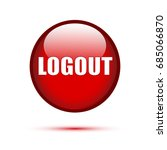 logout red glossy button on...   Shutterstock .eps vector #685066870