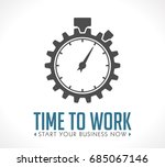 logo   time to work  start your ... | Shutterstock .eps vector #685067146