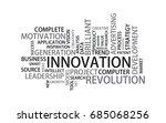 innovation tag cloud  vector | Shutterstock .eps vector #685068256