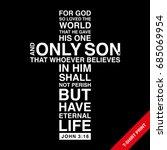 christian cross with bible verse   Shutterstock .eps vector #685069954