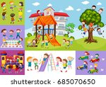 children having fun at school... | Shutterstock .eps vector #685070650