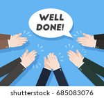 human hands clapping. applause... | Shutterstock .eps vector #685083076