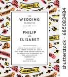 wedding invitation template.... | Shutterstock .eps vector #685083484