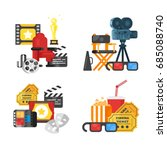 vector flat style movie design... | Shutterstock .eps vector #685088740