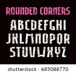 narrow sanserif font with... | Shutterstock .eps vector #685088770