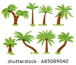 vector tropical palms... | Shutterstock .eps vector #685089040