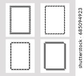 set of silhouette frames.... | Shutterstock .eps vector #685094923