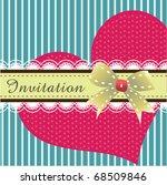 invitation card design 02 | Shutterstock .eps vector #68509846