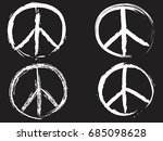 white doodle peace symbol | Shutterstock .eps vector #685098628