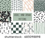 set of simple minimalistic... | Shutterstock .eps vector #685098898