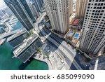 dubai marina from above. | Shutterstock . vector #685099090