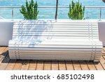 White Wooden Bench On The...