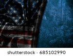 usa flag vintage background | Shutterstock . vector #685102990
