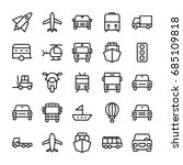 automobile line vector icons 4 | Shutterstock .eps vector #685109818