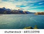 Panoramic View Of Fjord....
