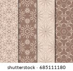 set of modern geometric pattern.... | Shutterstock .eps vector #685111180