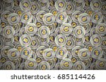 a lot of coins with microchip... | Shutterstock .eps vector #685114426