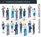 isometric business people icons ... | Shutterstock .eps vector #685114714