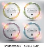abstract circle vector banner... | Shutterstock .eps vector #685117684