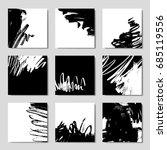 set of 6 ink brush pattern ... | Shutterstock .eps vector #685119556