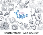 hygge is a danish living... | Shutterstock .eps vector #685122859