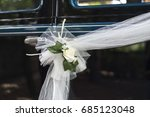 wedding old timer limo flower...