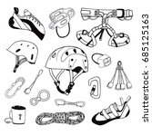 rock climbing gear vector... | Shutterstock .eps vector #685125163