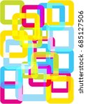bright vector squares... | Shutterstock .eps vector #685127506