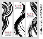 set of modern grunge style... | Shutterstock .eps vector #685127848