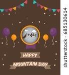 mountain day vector art | Shutterstock .eps vector #685130614
