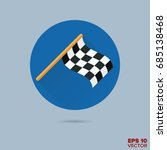 checkered racing flag flat... | Shutterstock .eps vector #685138468