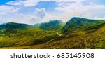 panorama with the carpathian... | Shutterstock . vector #685145908