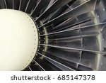 front part of the turbojet... | Shutterstock . vector #685147378