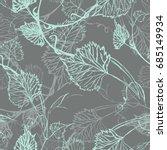 seamless wallpaper. grapevine... | Shutterstock .eps vector #685149934