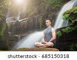 young man meditating and relax... | Shutterstock . vector #685150318