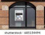 atm cash machine in a bank... | Shutterstock . vector #685154494