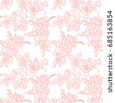 vector romantic pattern of... | Shutterstock .eps vector #685163854