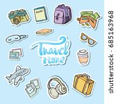 travel sticker set. icons travel | Shutterstock .eps vector #685163968