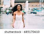 young african american in white ... | Shutterstock . vector #685170610
