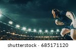 professional rugby player runs... | Shutterstock . vector #685171120