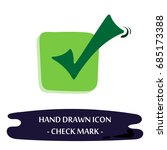 check mark icon. hand drawn... | Shutterstock .eps vector #685173388