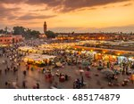Jamaa el Fna market square, Marrakesh, Morocco, north Africa. Jemaa el-Fnaa, Djema el-Fna or Djemaa el-Fnaa is a famous square and market place in Marrakesh