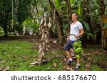 young male expat living in... | Shutterstock . vector #685176670