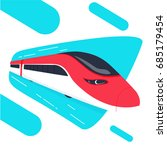 high speed bullet train come... | Shutterstock .eps vector #685179454