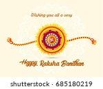 happy raksha bandhan  beautiful ... | Shutterstock .eps vector #685180219