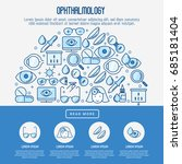 ophthalmology concept with... | Shutterstock .eps vector #685181404